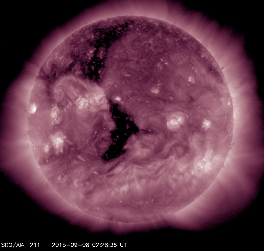 SDO image of large coronal hole