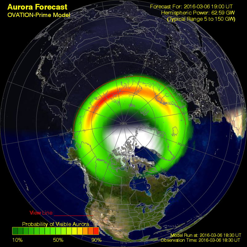 Ovation shows the extent and strength of Aurora continuing to increase