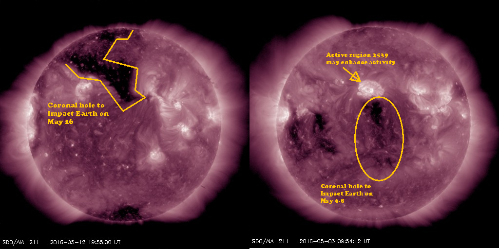 Side By Side images of the last coronal hole and this one