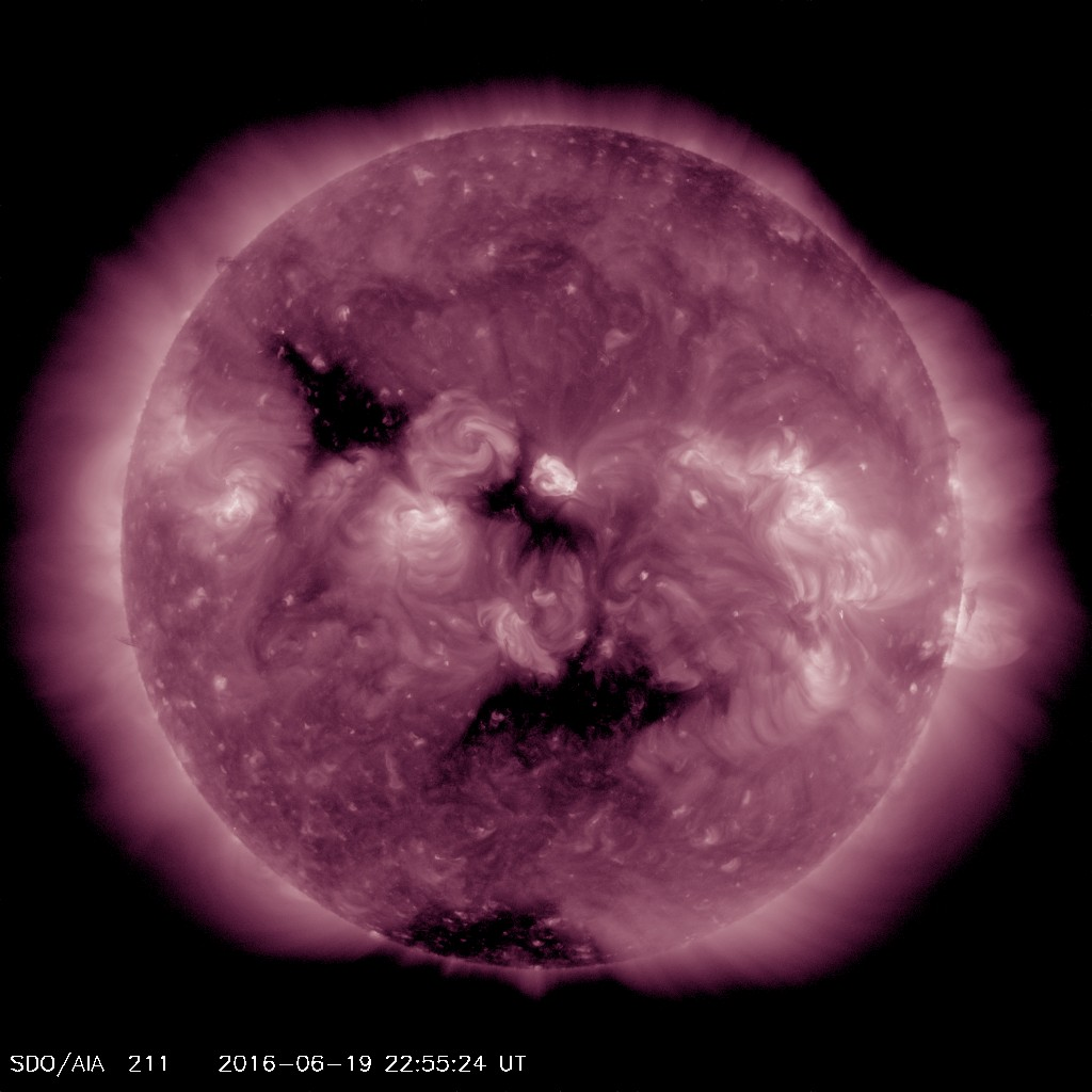 Several coronal hole are pointed or will be pointed toward earth over the next several days