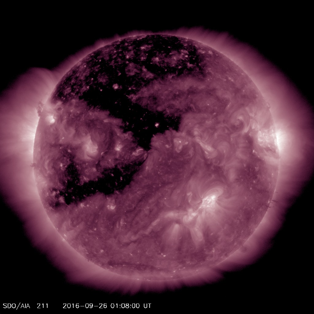 Coronal hole in geoeffective position on September 25 could induce aurora September 28