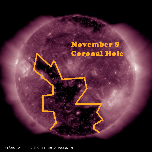Early November view of this month's Coronal Hole