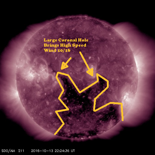 Mid October View of this month's Coronal Hole