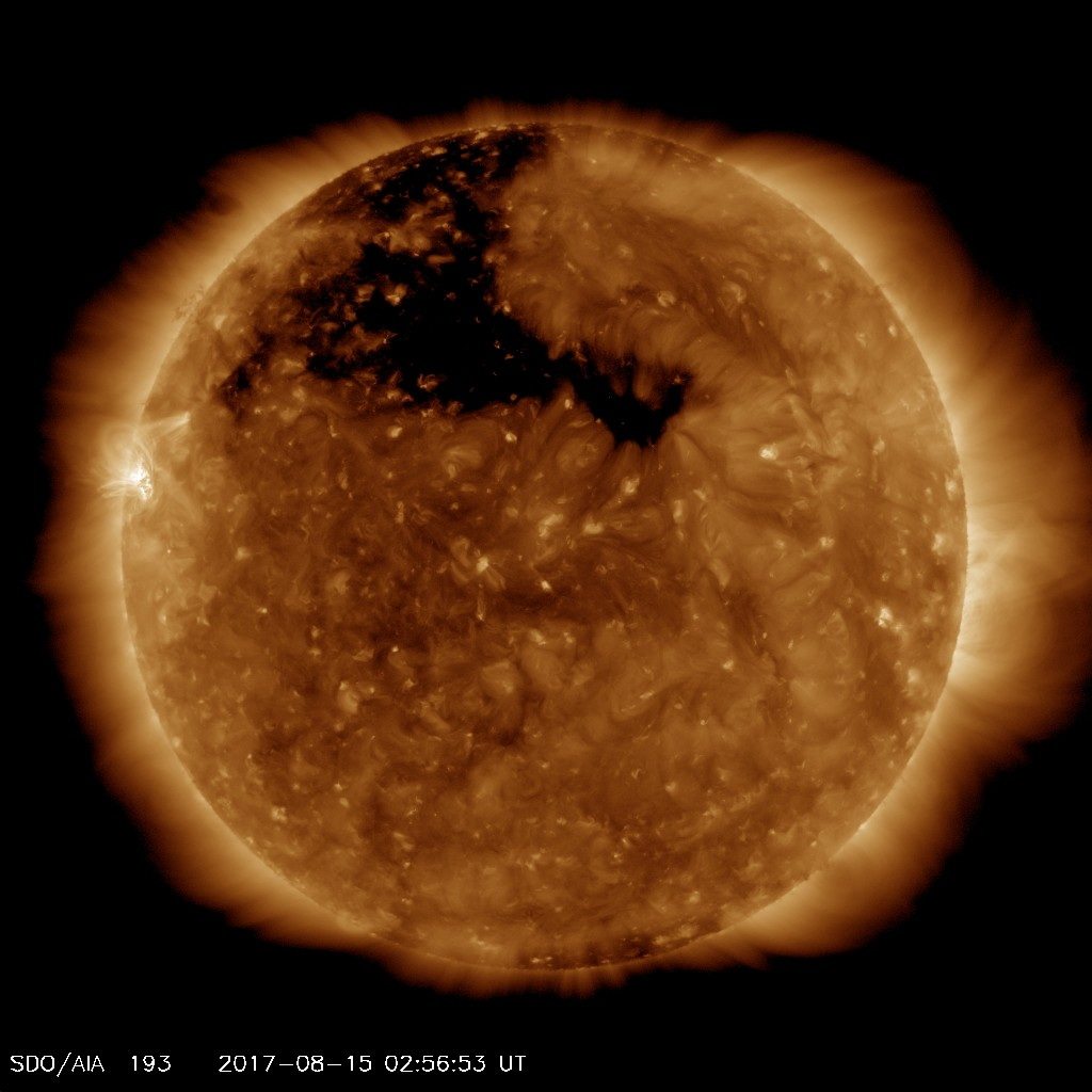 Northern Hemisphere Coronal Hole shown in AIA 193