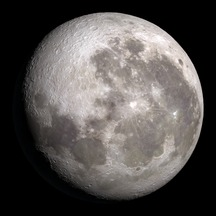 Tonight's Moon is 80% waxing Gibbous